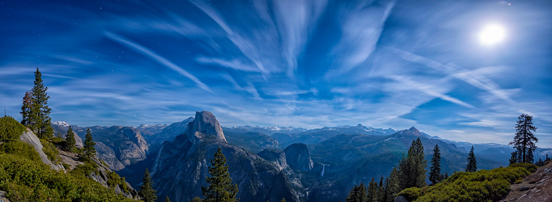 Glacier Point Night Panorama - Yosemite