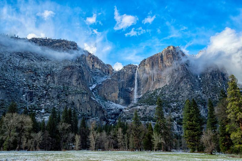 Yosemite Falls Snow - Yosemite-3