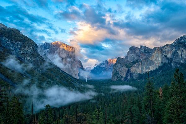 Tunnel View Storm Sunset - Yosemite