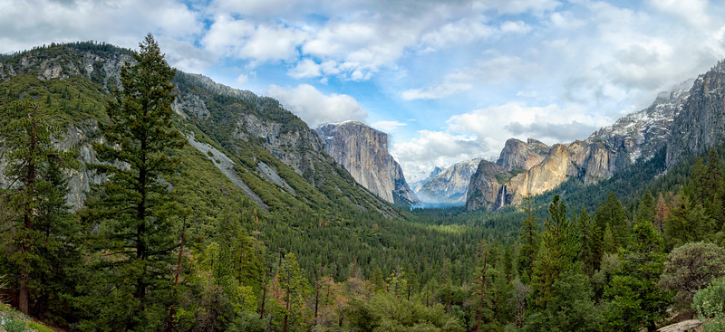 Tunnel View Storm Panorama - Yosemite-4