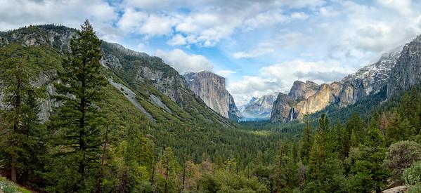Tunnel View Storm Panorama - Yosemite-4