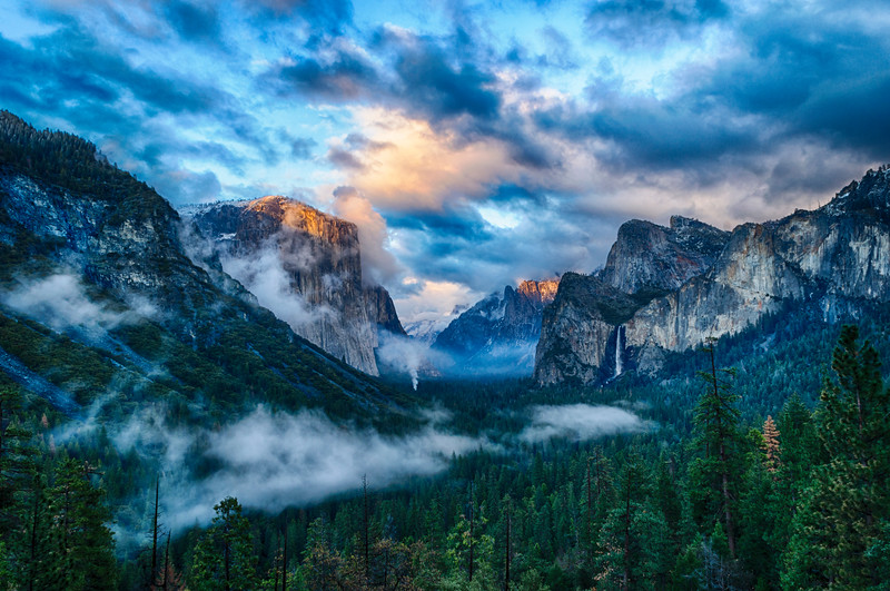 Tunnel View Storm Sunset - Yosemite-2