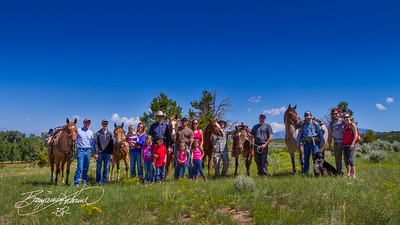 The inaugural class at the Cowboy Academy as they and their support team head into the mountains.  -BP-