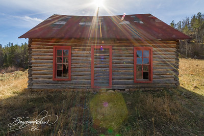 3 image blend.  This cabin was built in the 1860s.  -BP-