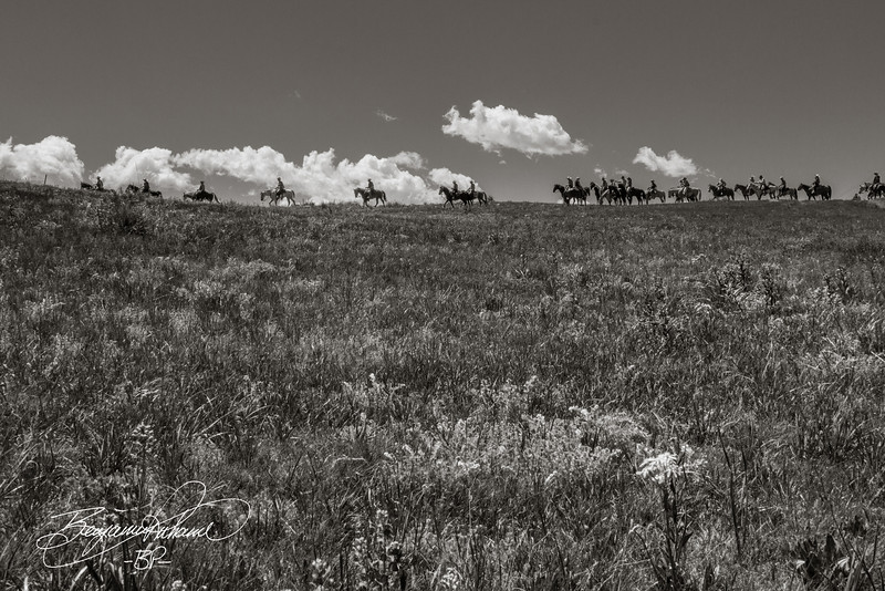 This photo has a John-Wayne era feel to it.  I was on the fence about this particular shot, so to speak, but in a monochromatic format, I really like it.  -BP-