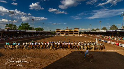 Not much better a sight than Ol' Glory atop a horse at a rodeo.  -BP-