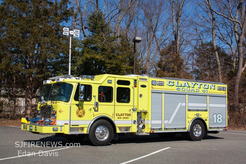 Clayton, Gloucester County NJ, Squad 41-18, 2015 E-One Typhoon 1590-750-Jaws (C) Edan Davis, www sjfirenews (13)
