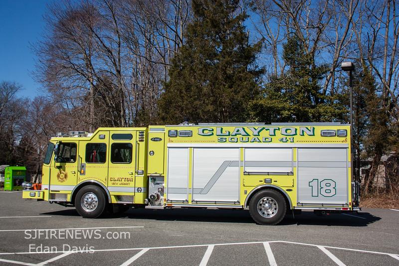 Clayton, Gloucester County NJ, Squad 41-18, 2015 E-One Typhoon 1590-750-Jaws (C) Edan Davis, www sjfirenews (2)