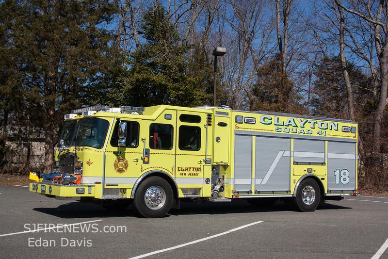 Clayton, Gloucester County NJ, Squad 41-18, 2015 E-One Typhoon 1590-750-Jaws (C) Edan Davis, www sjfirenews (1)