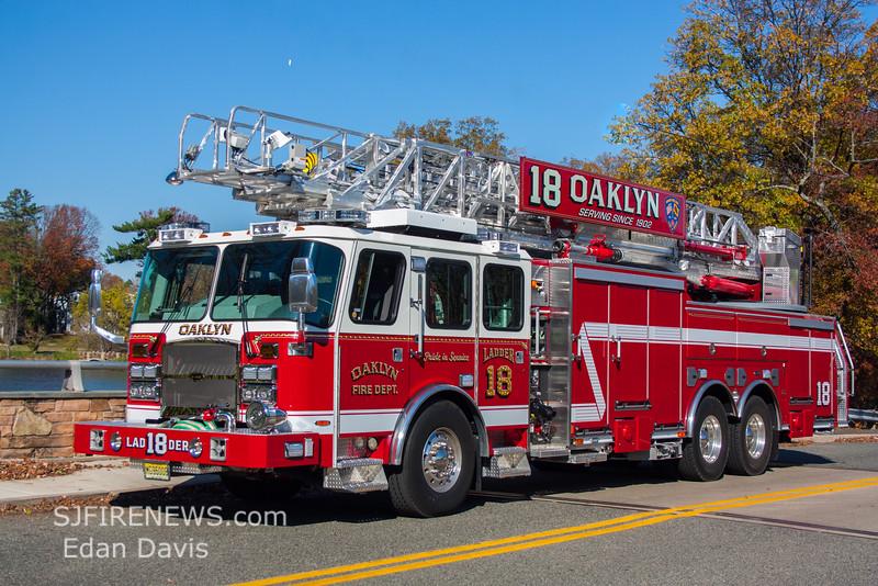 Oaklyn, Camden County NJ, Ladder 18, 2015 E-One  Cyclone II,  HP100, EMax, 1500-500-100' (C) Edan Davis, www sjfirenews (1)