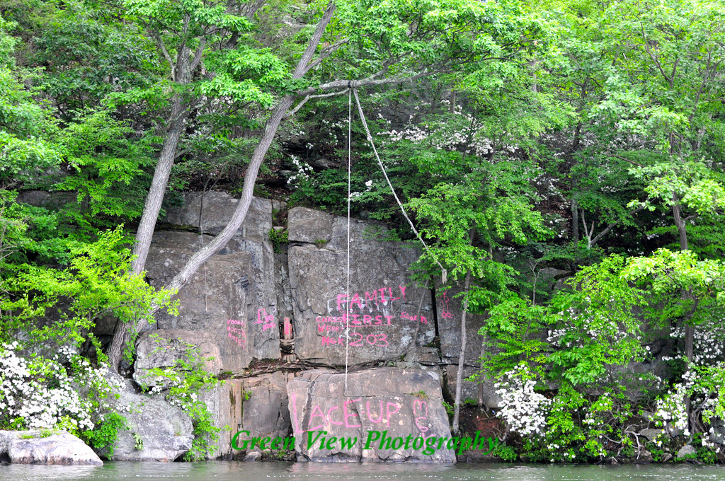 Tarzan rope on Candlewood Lake