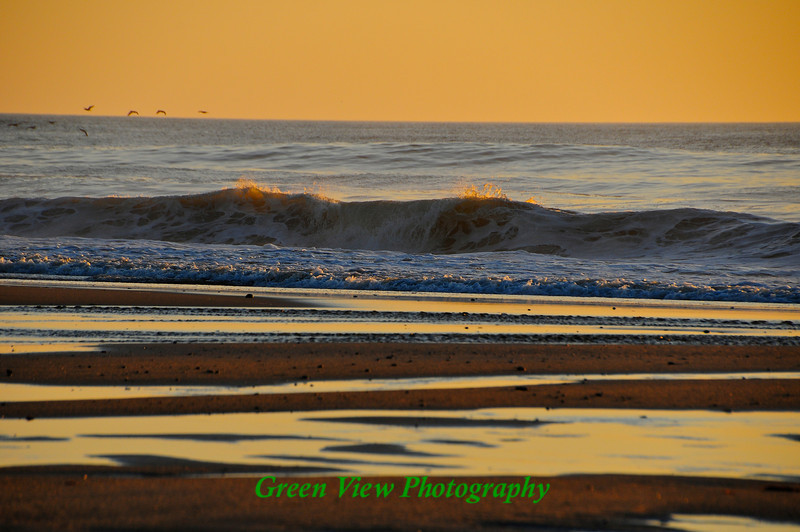 Ocean Wave at low tide