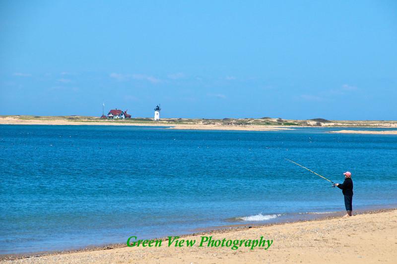 Fishing along Race Point Beach