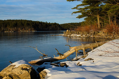 Middlesex Fells Reservoir in winter