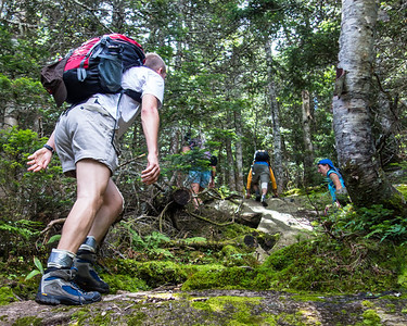 Hiking on Pine Bend Brook trail