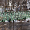 Swinging foot bridge, Milford NH on the Souhegan River-March 2011