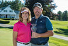 Jeff Seavey, Low Maine Professional at the 2017 Charlie's Maine Open and his wife Christine