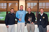 Jesse Menachem, MGA Executive Director and Thomas Bagley III, MGA President  with Herbie Aikens and Matt Parziale , 2015 Mass Four-Ball Champions