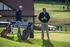 Steven DiLisio and Thomas Bagley waiting for the action on the 1st tee