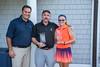 Jesse Menachem, MGA Executive Director congratulates 2017 Mass Father & Daughter (Forward Division) Champions Morgan & Philip Smith