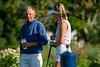 John Hadges and daughter Tate chatting on the 1st Tee