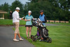 OIC Terry Wappel with Eleanor Parkerson and Camille Richmond on the 1st tee