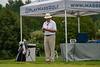 Mass Golf President Tom Berkel preps before his match
