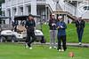 Shannon Johnson, Megan Buck and Pam Kuong on the 1st tee