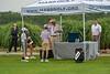 Mass Golf President and Starter Tom Berkel in action on the 1st Tee