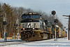 Pan Am train AYMO with three NS units heads west through Shirley, MA. 1/8/2013 - 598C5537dK
