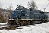 NECR 437 sits at the north end of the yard in Palmer, MA. 2/13/13 - 598C6142dK
