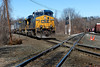 CSX train Q022 coming up on the diamond at MP83, Palmer, MA. 3/29/2013 - 598C7761dK