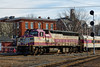MBTA GP40 #1130 pulls into the station at Ayer, MA. 3/13/2013 - 598C7313dK