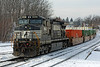 Eastbound Pan Am train MEAY in the hole in Gardner, MA. 1/8/2013 - 598C5592dK