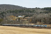 Amtrak 449 rolls through a snow-less late winter New England landscape at MP79, Palmer, MA. 3/16/2013 - 598C7394dK