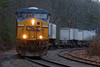 "On a dark, dreary day, CSX train Q022 rolls into the ""S"" curves at MP60, Spencer, MA. 12/2/2013 - 598C1154dK"