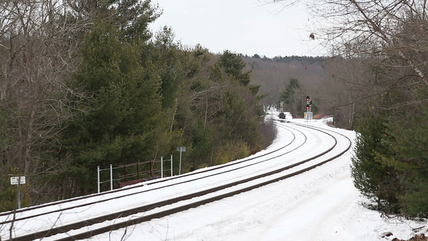 "Amtrak 449 through the ""S"" curves at MP60, Spencer, MA. 1/11/2013 - 598C5611"