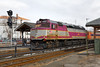 MBTA F40 #1069 pulling into the Framingham, MA station. 3/4/2013 - 598C7202dK