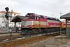 MBTA F40 #1069 pulling into the Framingham, MA station. 3/4/2013 - 598C7202dK