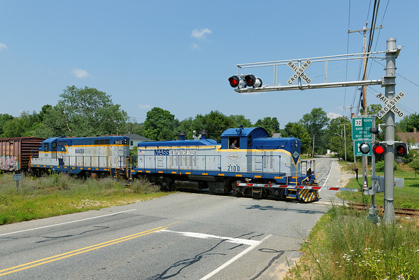 Mass Central - Ware to Barre: crossing Rte. 67 at Barre Plains. 7/17/2013 - 598C2495dK
