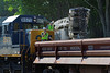 Undercutting began today at MP83, Palmer, MA to increase the clearance under the Main St. bridge. 6/9/2013 - 598C0502dK