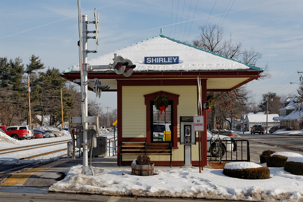 The beautiful little commuter station in Shirley, MA. 1/8/2013 - 598C5524dK