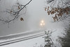 CSX train Q022 in the pea soup fog at MP60, Spencer, MA. 1/13/13 - 598C5620dK
