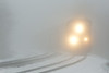Train Q264 heads to Worcester through the fog at MP60, Spencer, MA. 1/13/13 - 598C5645dK
