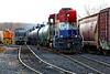 RailAmerica (TPW) 4053 comes north into the NECR yard at Palmer, MA. 12/30/2013 - 598C1840dK