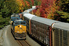 With 3001 on the point, Q014 rolls east through some early Fall color in Spencer, MA. 9/30/2013 - 598C8499dK2
