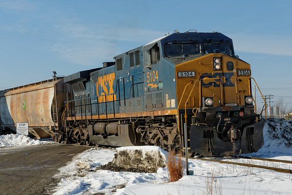 B&M, er, Pan Am train SEPO on the west leg of the wye in Ayer, MA. 1/8/2013 - 598C5512dK