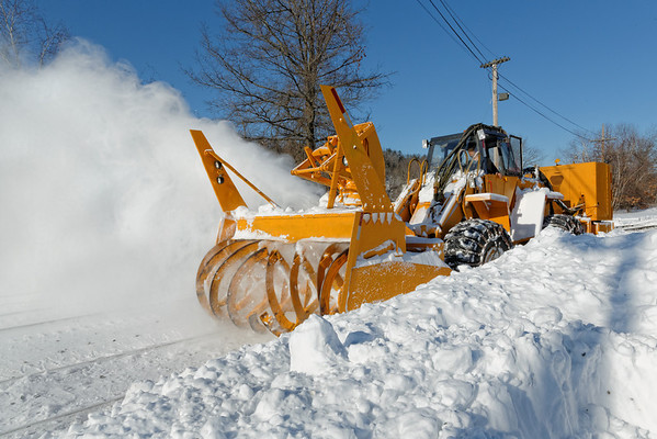 After the blizzard of Feb. 8&9, which dumped about 2 feet plus of snow over much of New England, the NECR was doing some much needed cleanup in their yard at Palmer, MA. 2/10/2013 - 598C6113dK