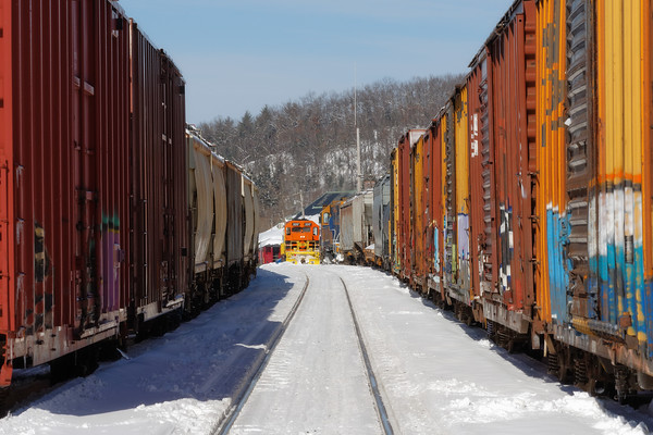 The main is about the only track open in the NECR yard at Palmer, MA. 2/11/22015 - 598C0724dK