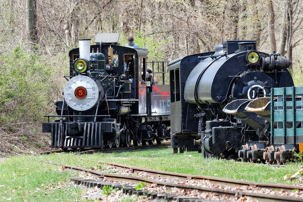 "The Connecticut Antique Machinery Association held their annual ""Spring Power Up"" on Saturday, May 2 at their headquarters in Kent, CT. This is one of 4 days each year when CAMA's 1925 Baldwin locomotive is fired up and run on their short section of track. The beautifully restored 3 foot gauge engine was originally purchased in 1925 by the Hawaiian Railway Co. 5/2/2015 - 598C6562dK"